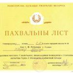 Похвальный лист. 2002 г.