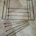 """Старая решётка для гриля от газовой плиты после """"реконструкции"""""""