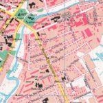 Улицы Плиева и Красная на карте 1998 года
